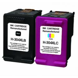 Lot de 2 cartouches compatibles HP304 XL
